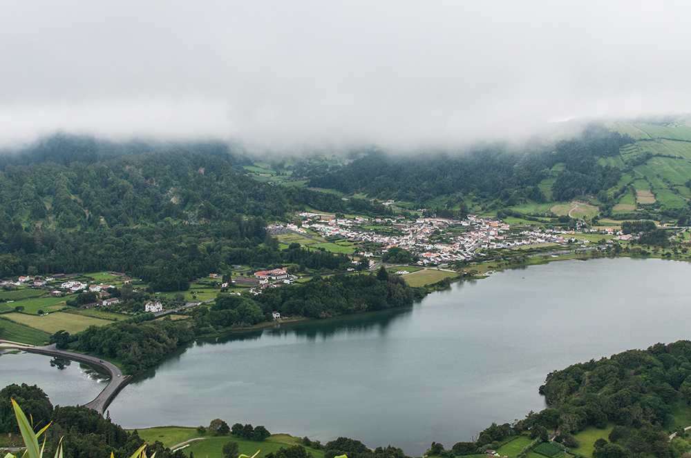 Sete Cidades, vue du premier belvédère